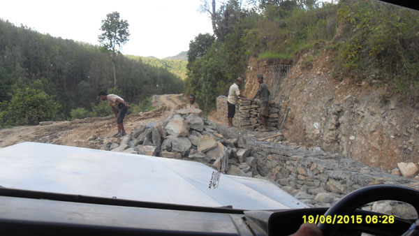 The next phase for the poor Nepali people who have endured two earthquakes and continued aftershocks- Here comes the Monsoon season with torrential rains.  But they are prepping the roads hands on to avoid landslides that have already taken lives!