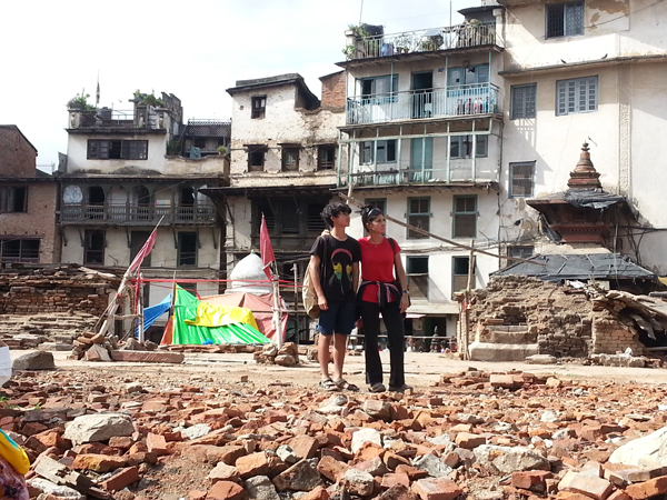Shock and awe at the devastating site of where once stood all the temples and Kasthamandav in all its glory.  But, Nepal and its people are resilient and will rise! My prayers and heart will always be with them!