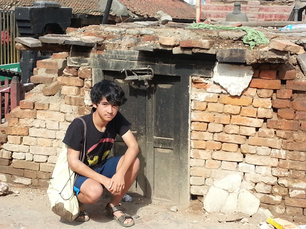 13 year old son feeling the sights and sounds of the devastation of Nepal earthquake.